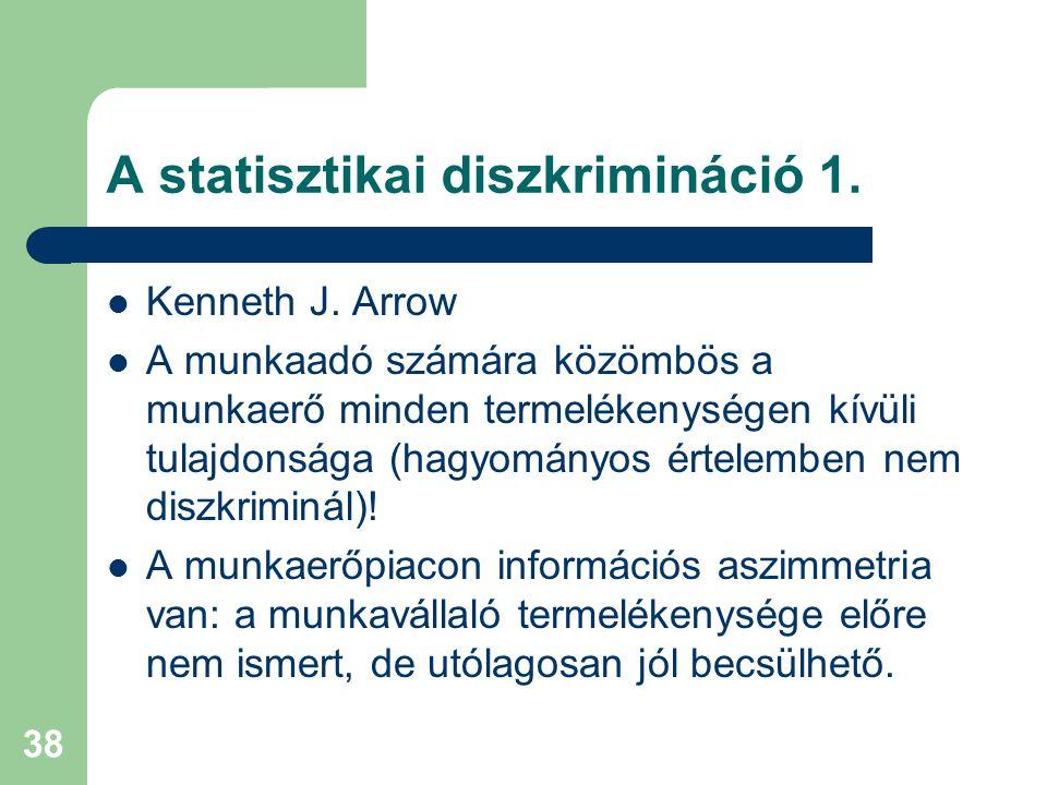A statisztikai diszkrimináció 1.