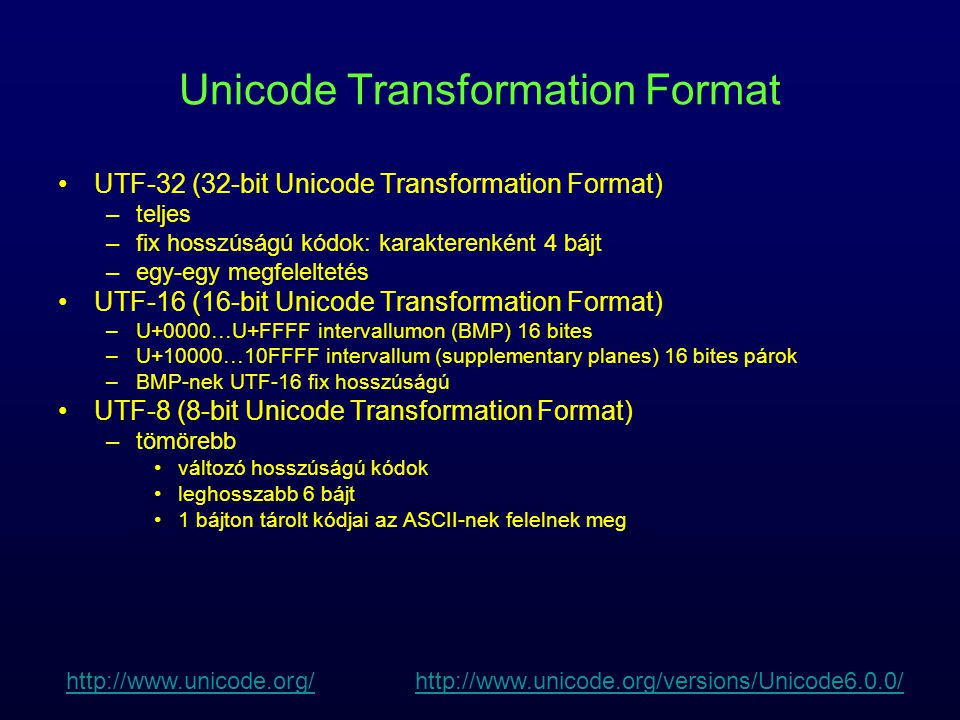 Unicode Transformation Format