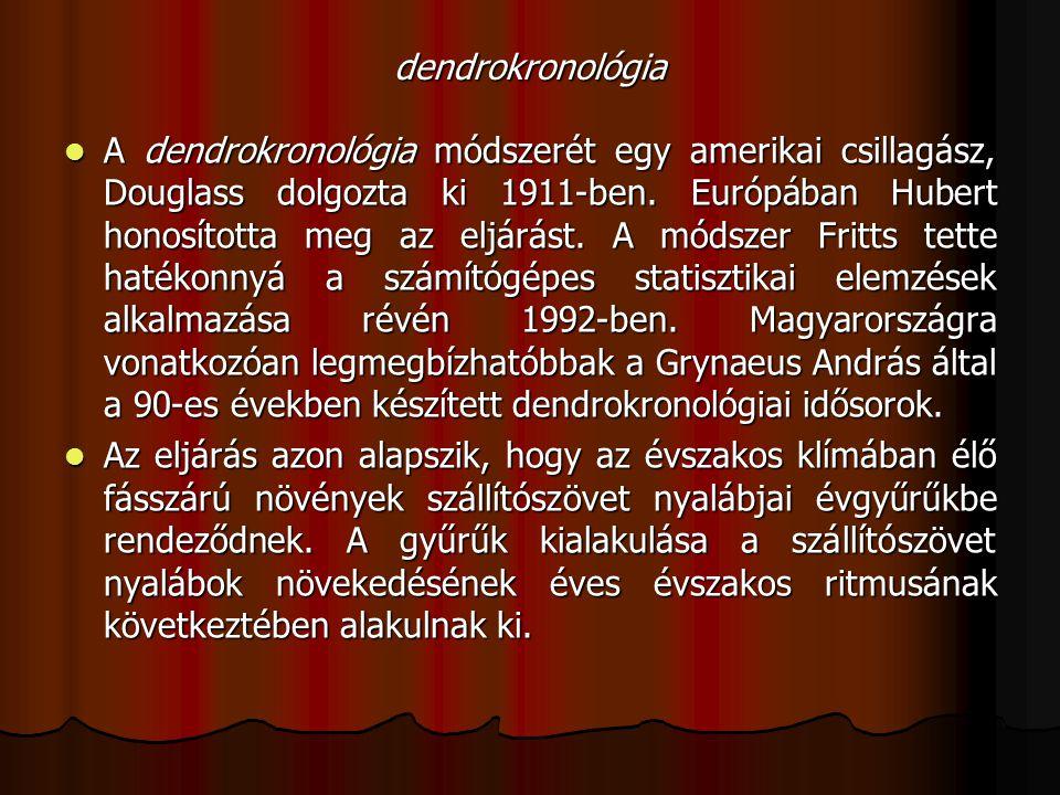 dendrokronológia