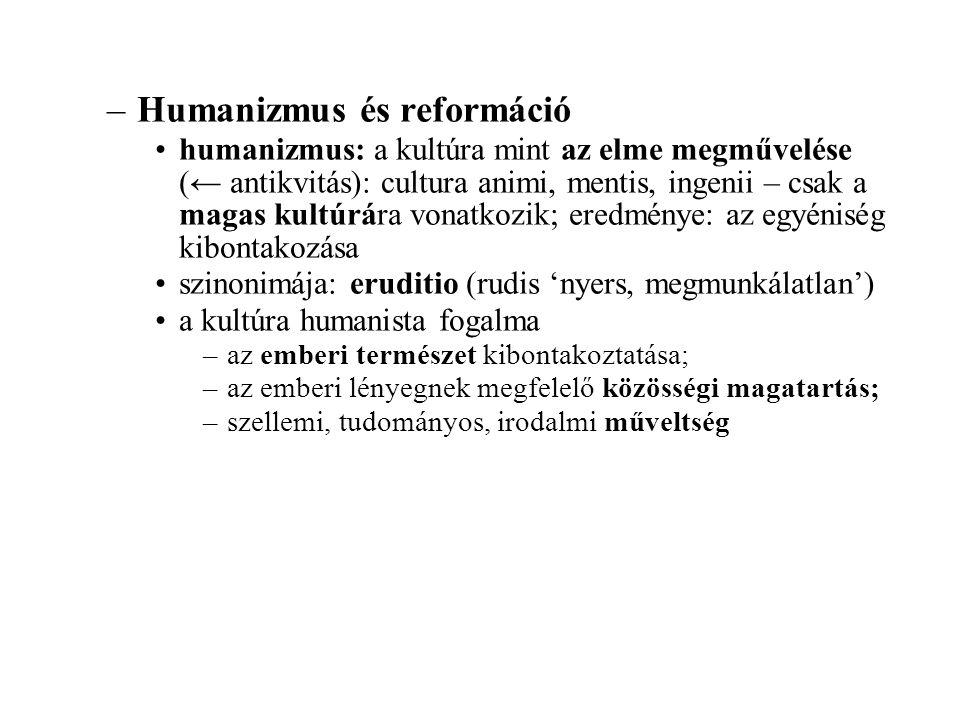 Humanizmus és reformáció