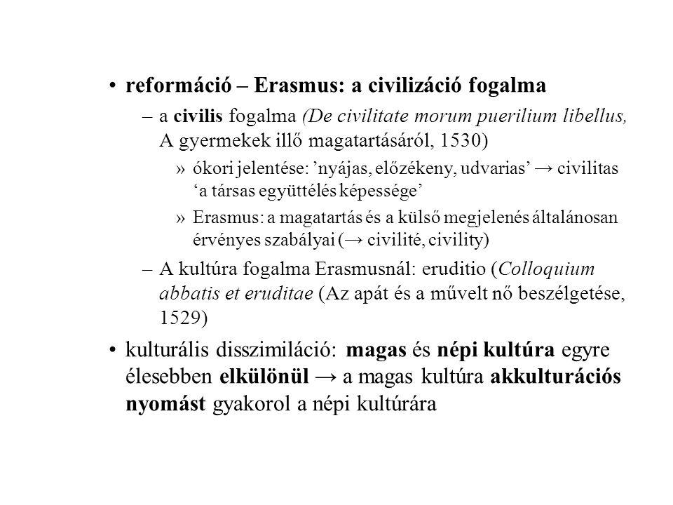 reformáció – Erasmus: a civilizáció fogalma