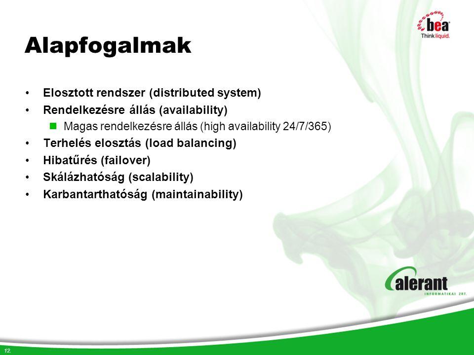 Alapfogalmak Elosztott rendszer (distributed system)