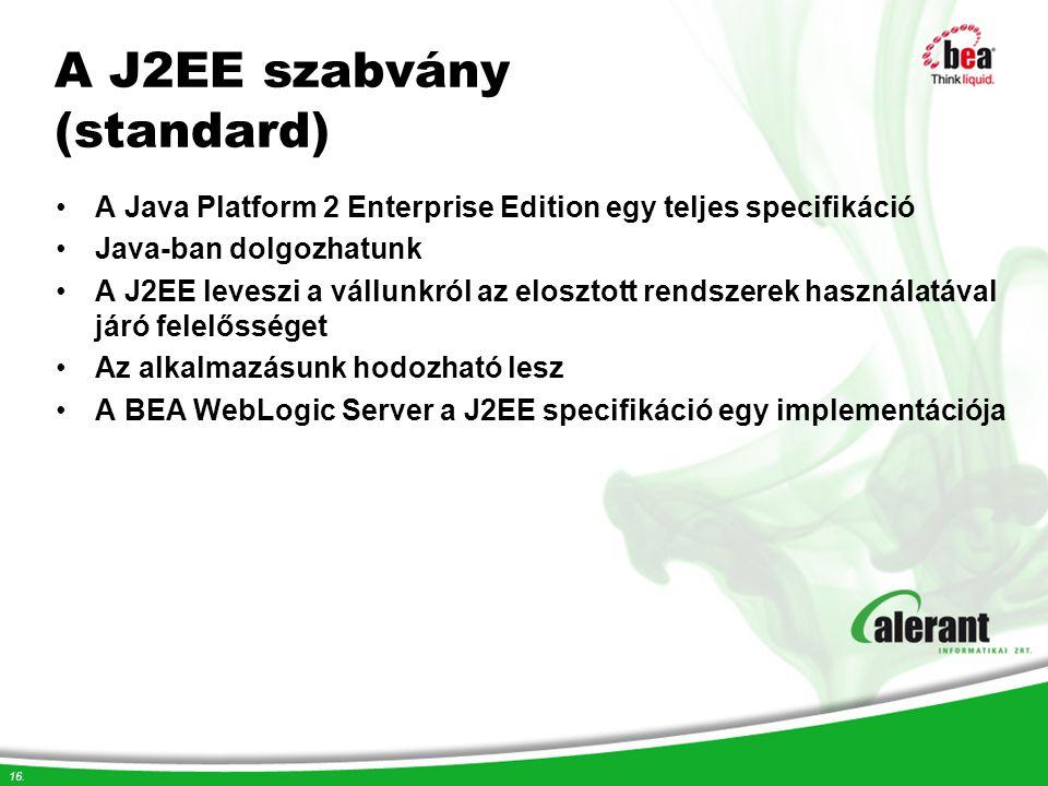A J2EE szabvány (standard)