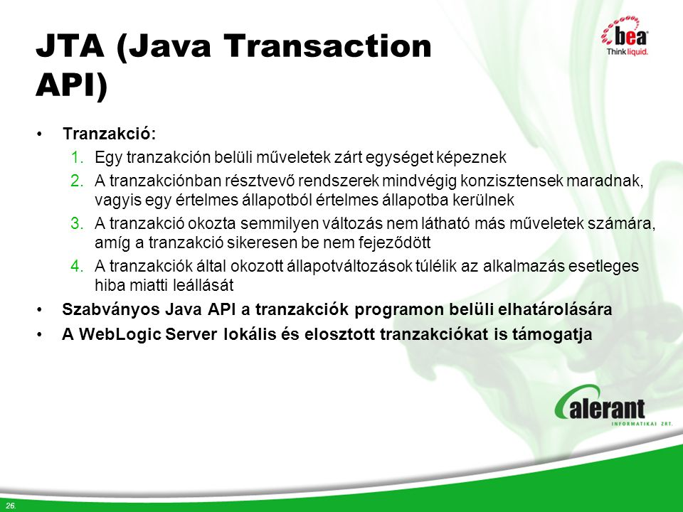 JTA (Java Transaction API)