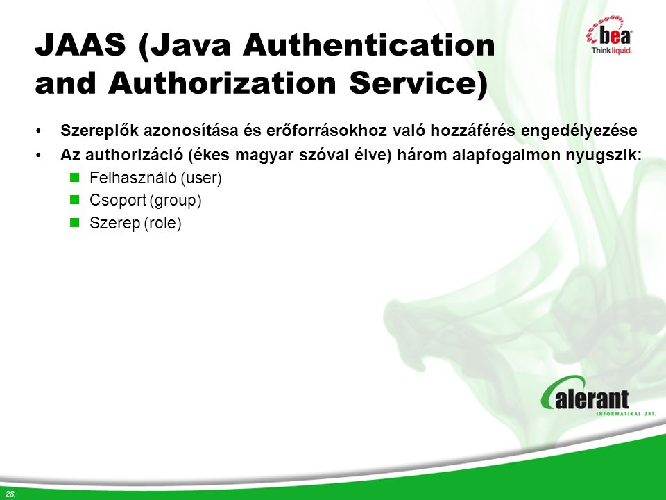 JAAS (Java Authentication and Authorization Service)