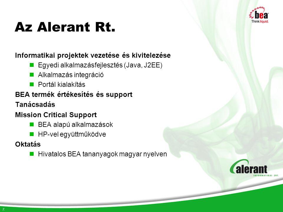 Az Alerant Rt. Informatikai projektek vezetése és kivitelezése