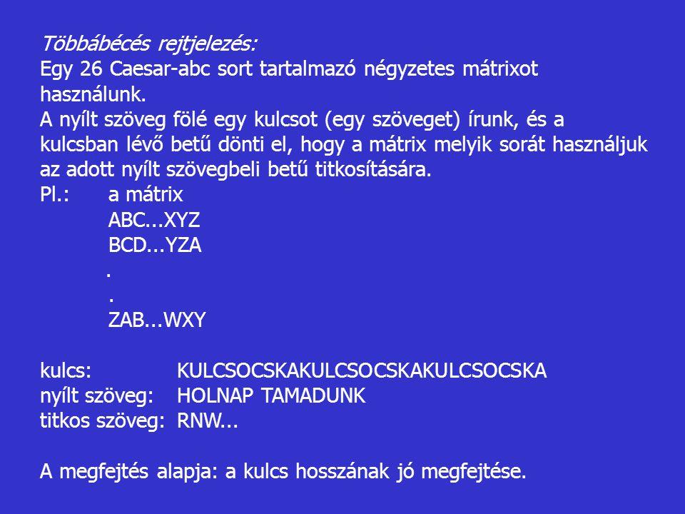 Többábécés rejtjelezés: