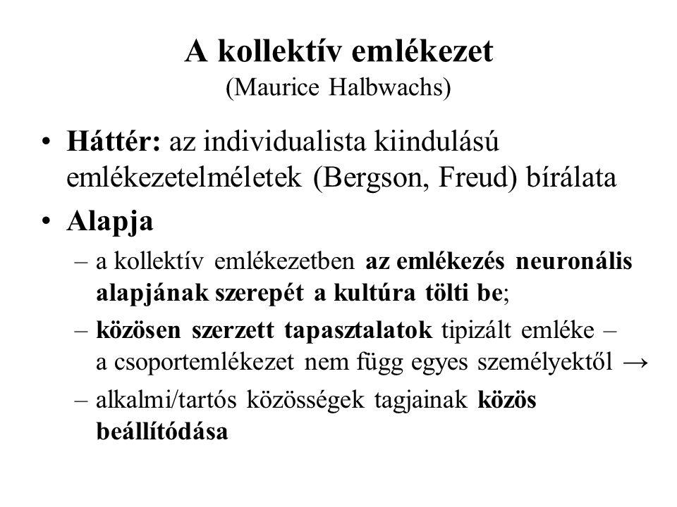 A kollektív emlékezet (Maurice Halbwachs)