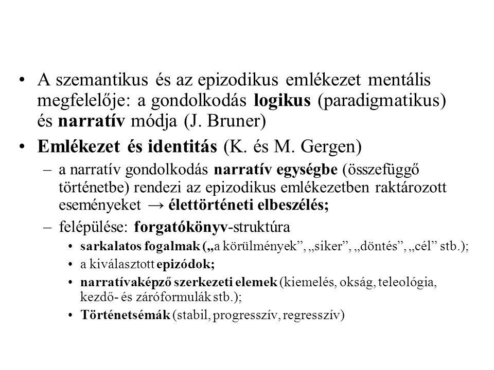 Emlékezet és identitás (K. és M. Gergen)