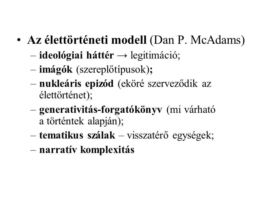 Az élettörténeti modell (Dan P. McAdams)