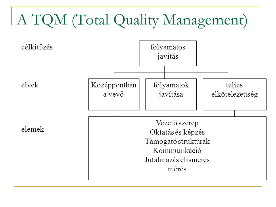 A TQM (Total Quality Management)
