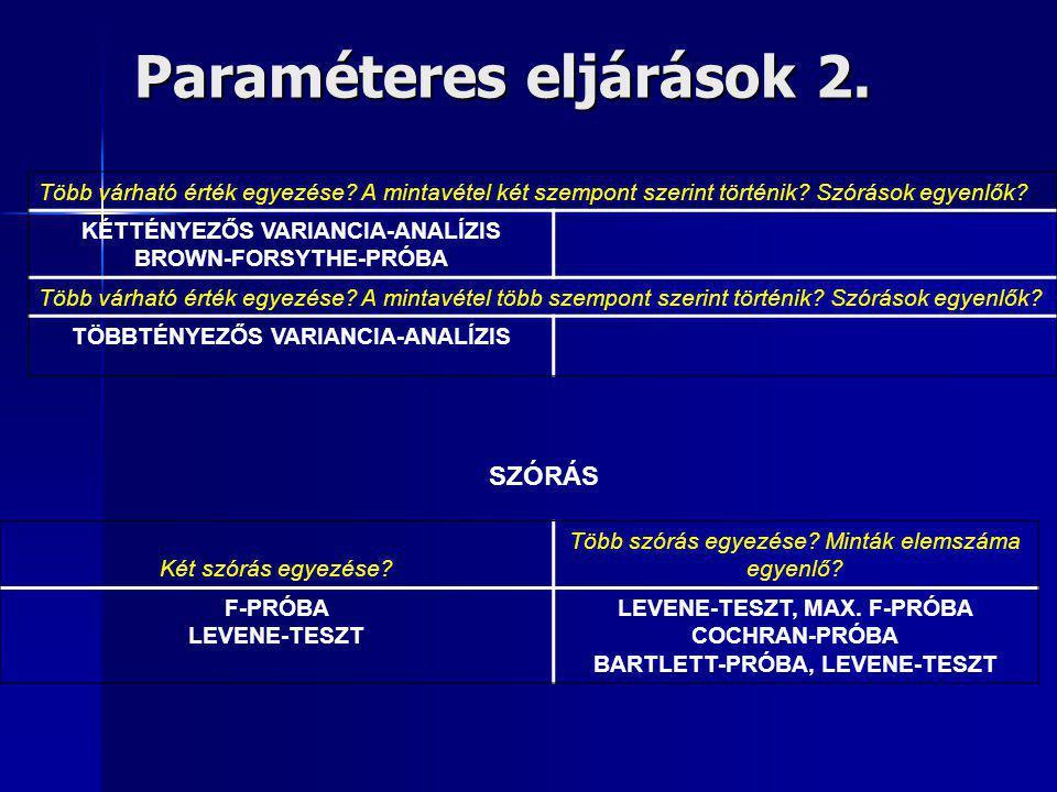 Paraméteres eljárások 2.