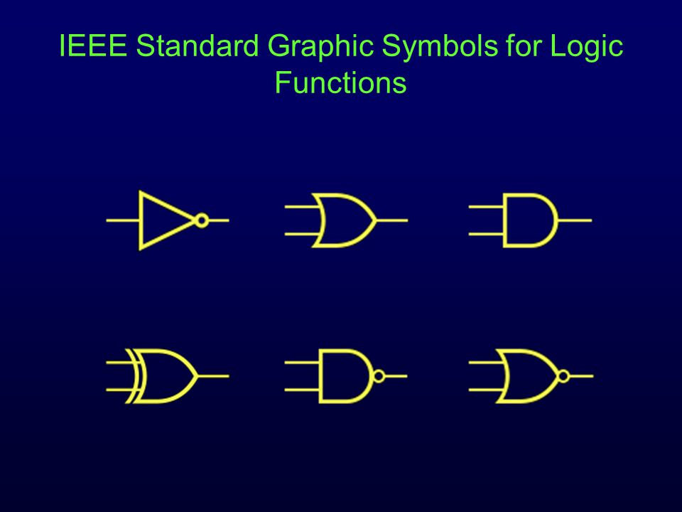IEEE Standard Graphic Symbols for Logic Functions