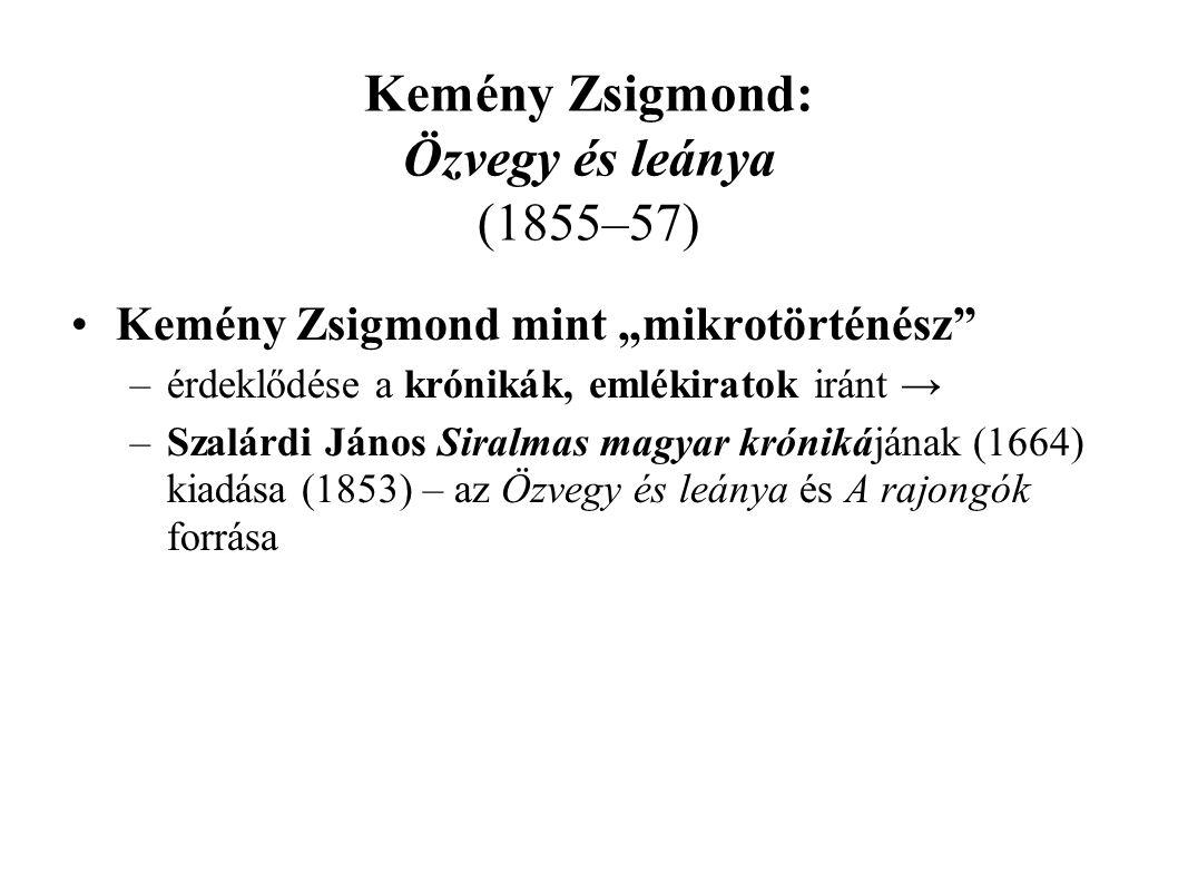 Kemény Zsigmond: Özvegy és leánya (1855–57)