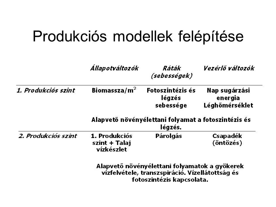 Produkciós modellek felépítése