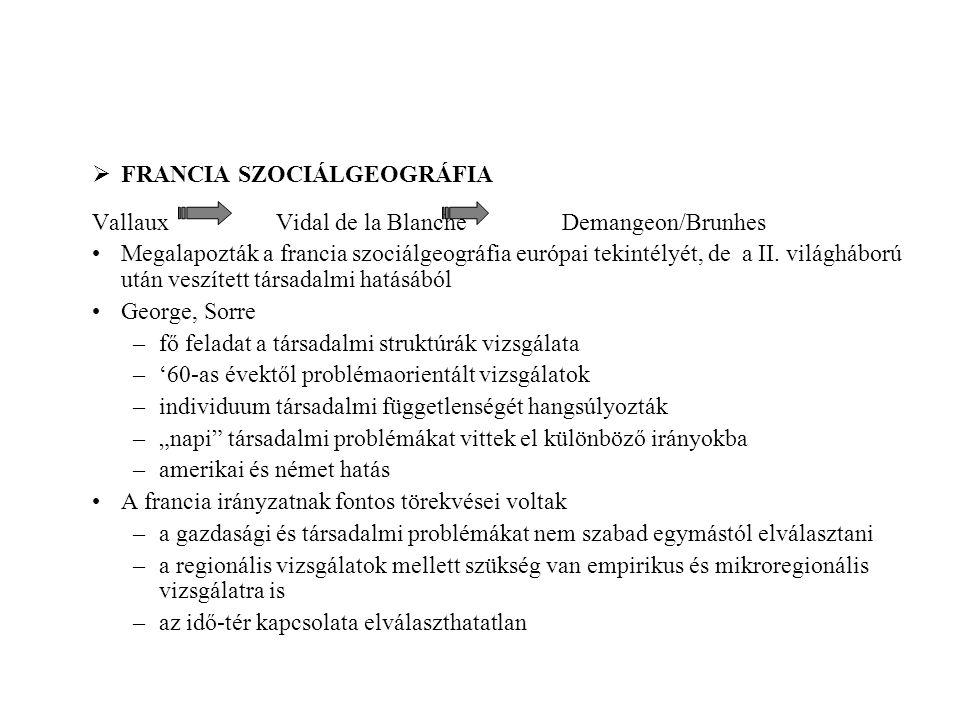 FRANCIA SZOCIÁLGEOGRÁFIA