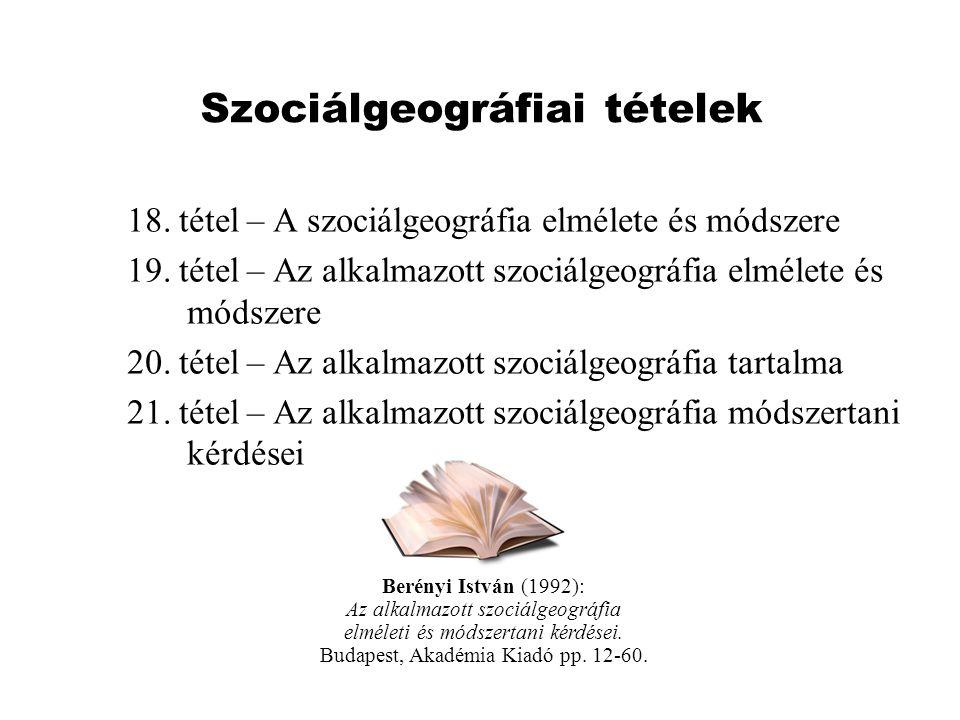 Szociálgeográfiai tételek