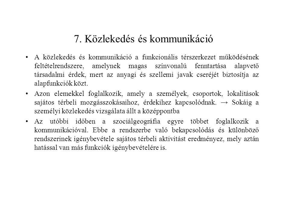 7. Közlekedés és kommunikáció