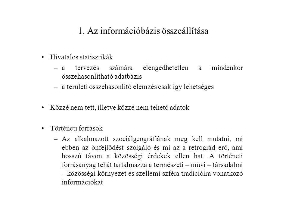 1. Az információbázis összeállítása