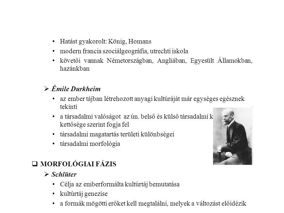 Émile Durkheim MORFOLÓGIAI FÁZIS Schlüter