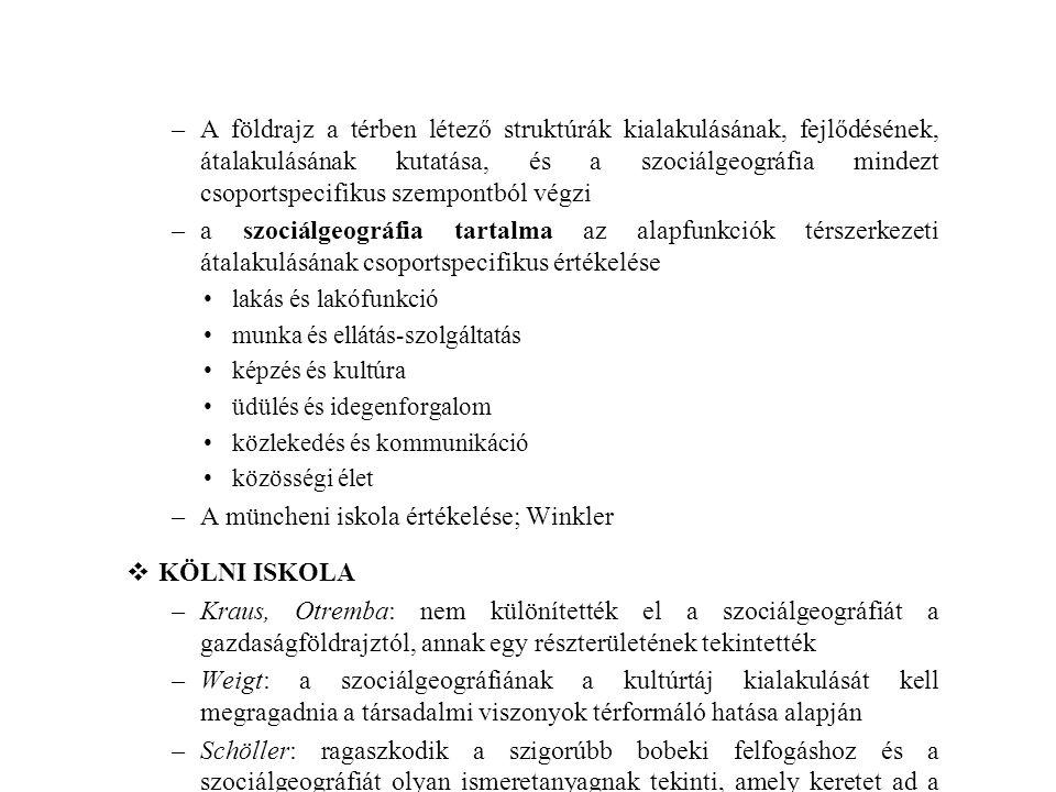 A müncheni iskola értékelése; Winkler KÖLNI ISKOLA