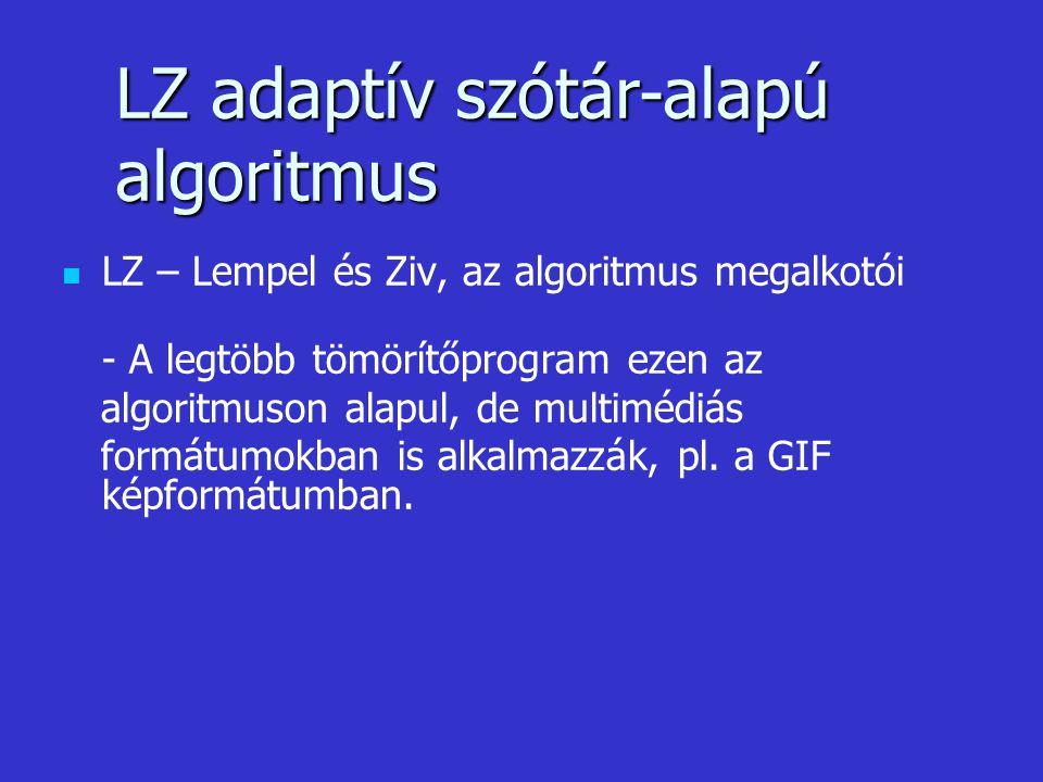 LZ adaptív szótár-alapú algoritmus