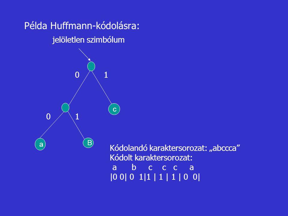 Példa Huffmann-kódolásra: jelöletlen szimbólum