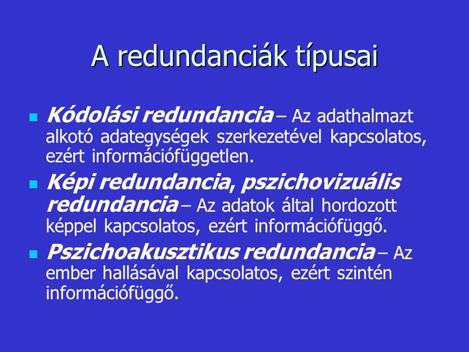 A redundanciák típusai