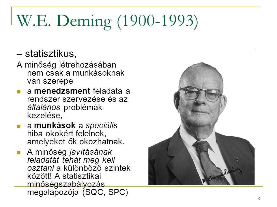 W.E. Deming (1900-1993) – statisztikus,