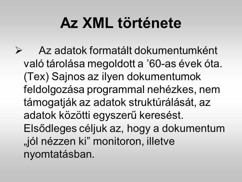 Az XML története