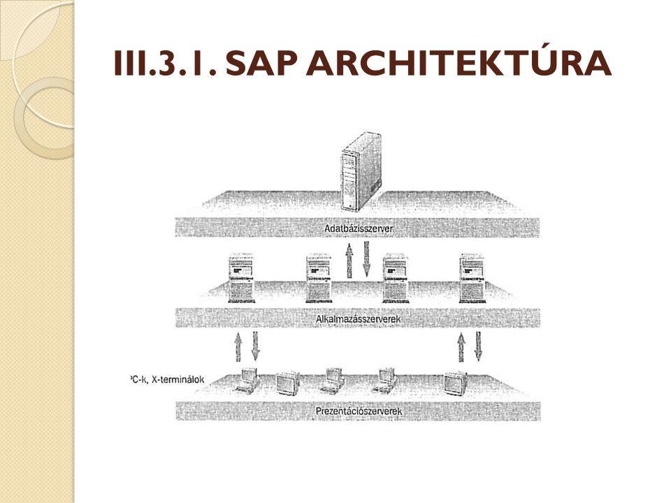 III.3.1. SAP ARCHITEKTÚRA