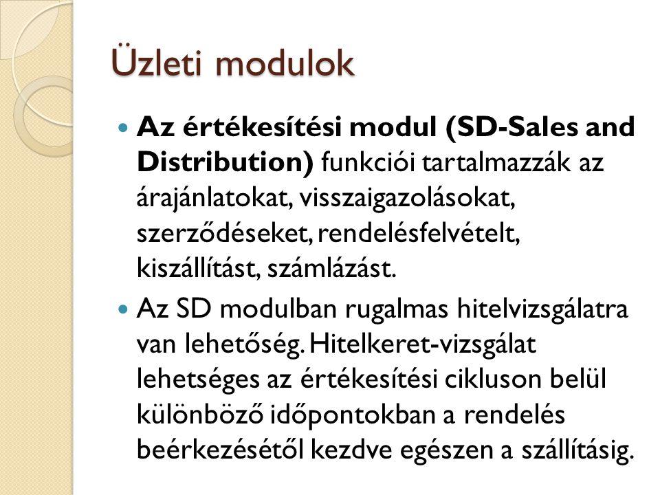 Üzleti modulok