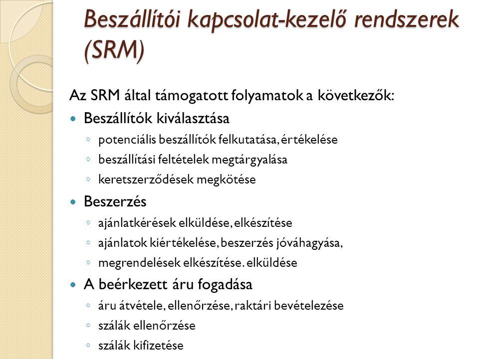 Beszállítói kapcsolat-kezelő rendszerek (SRM)