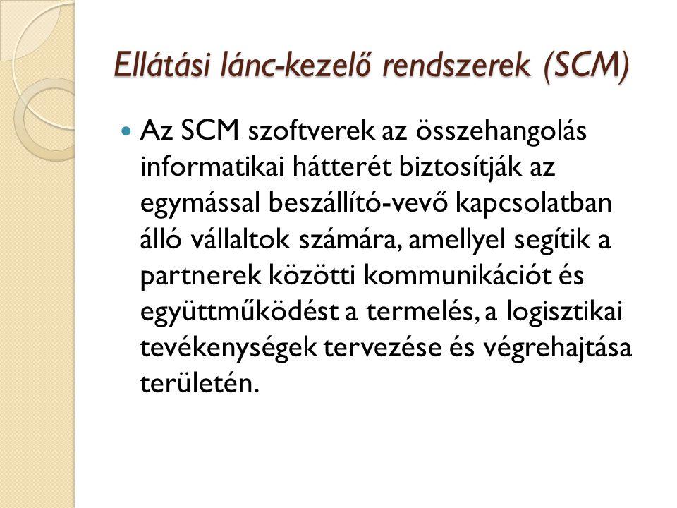 Ellátási lánc-kezelő rendszerek (SCM)