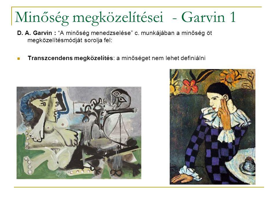 Minőség megközelítései - Garvin 1