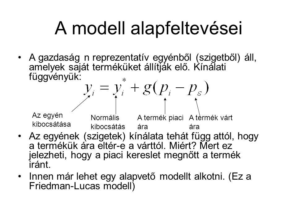A modell alapfeltevései