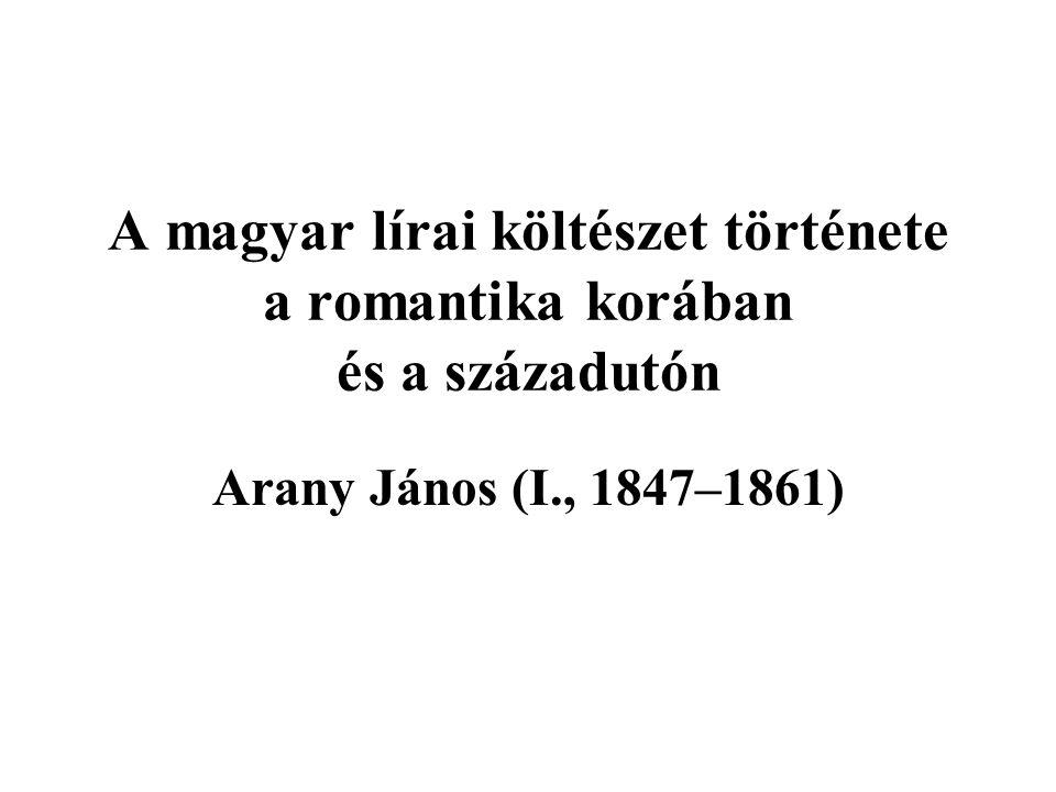 A magyar lírai költészet története a romantika korában és a századutón