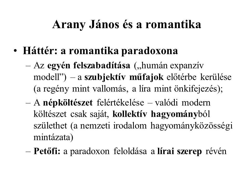 Arany János és a romantika