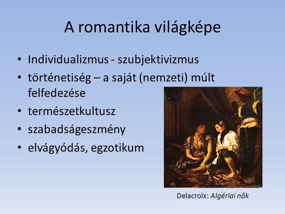 A romantika világképe Individualizmus - szubjektivizmus