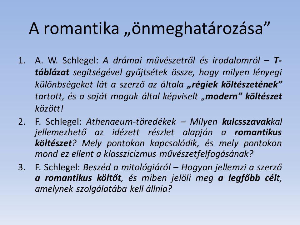 """A romantika """"önmeghatározása"""