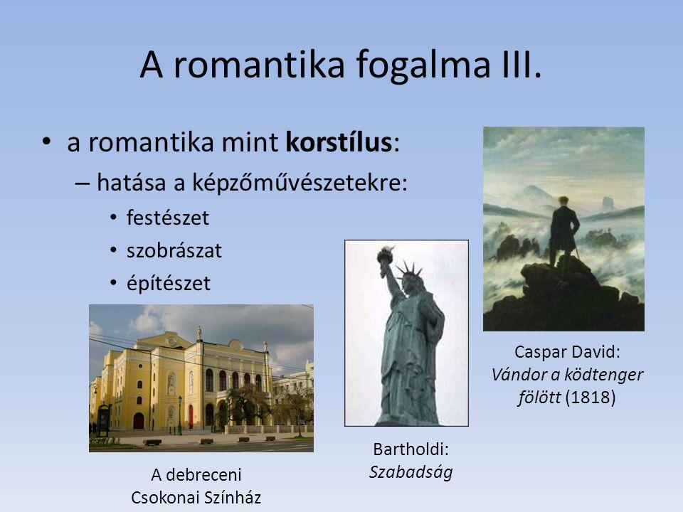 A romantika fogalma III.
