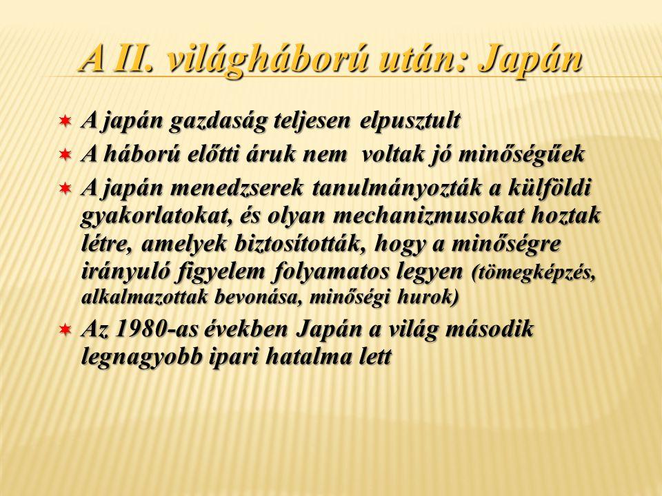 A II. világháború után: Japán