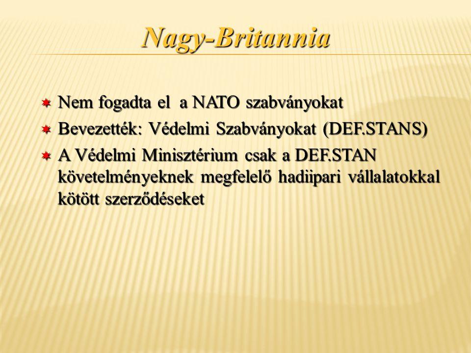 Nagy-Britannia Nem fogadta el a NATO szabványokat