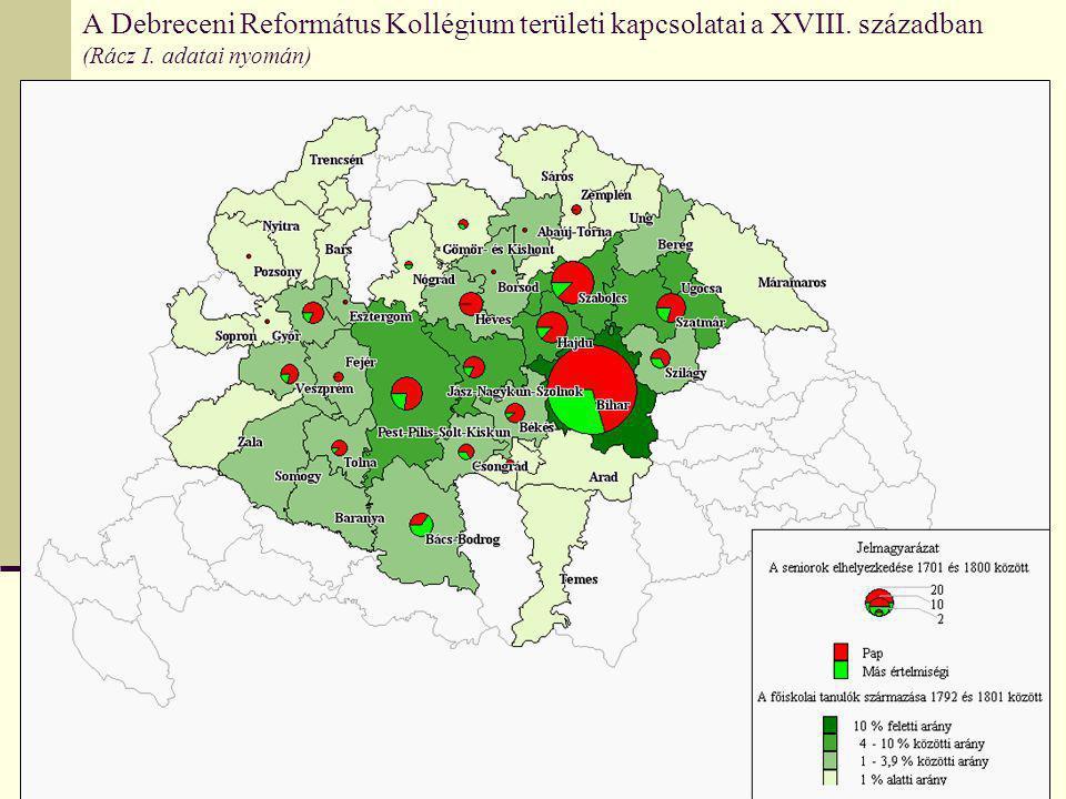 A Debreceni Református Kollégium területi kapcsolatai a XVIII