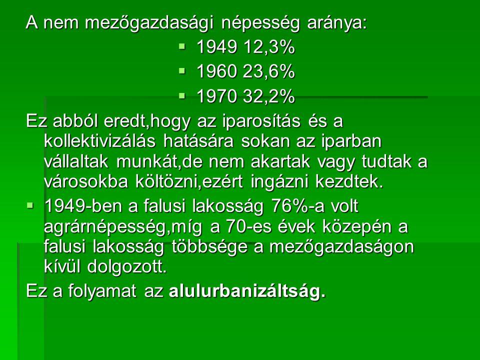 A nem mezőgazdasági népesség aránya: