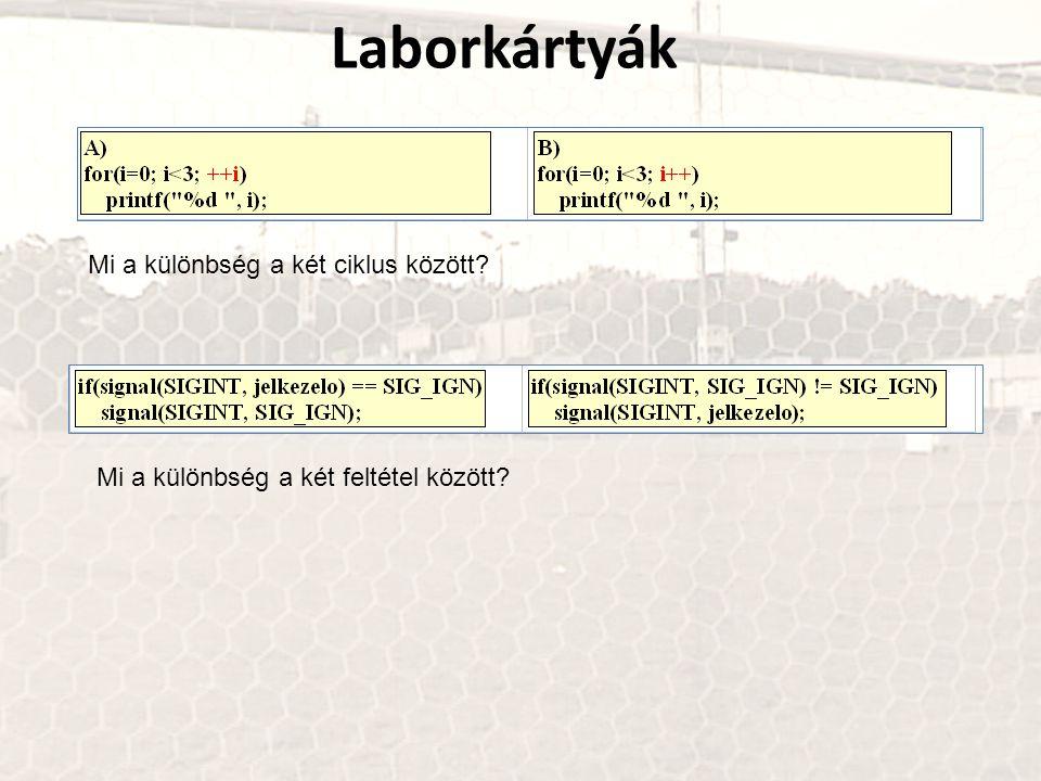 Laborkártyák Mi a különbség a két ciklus között