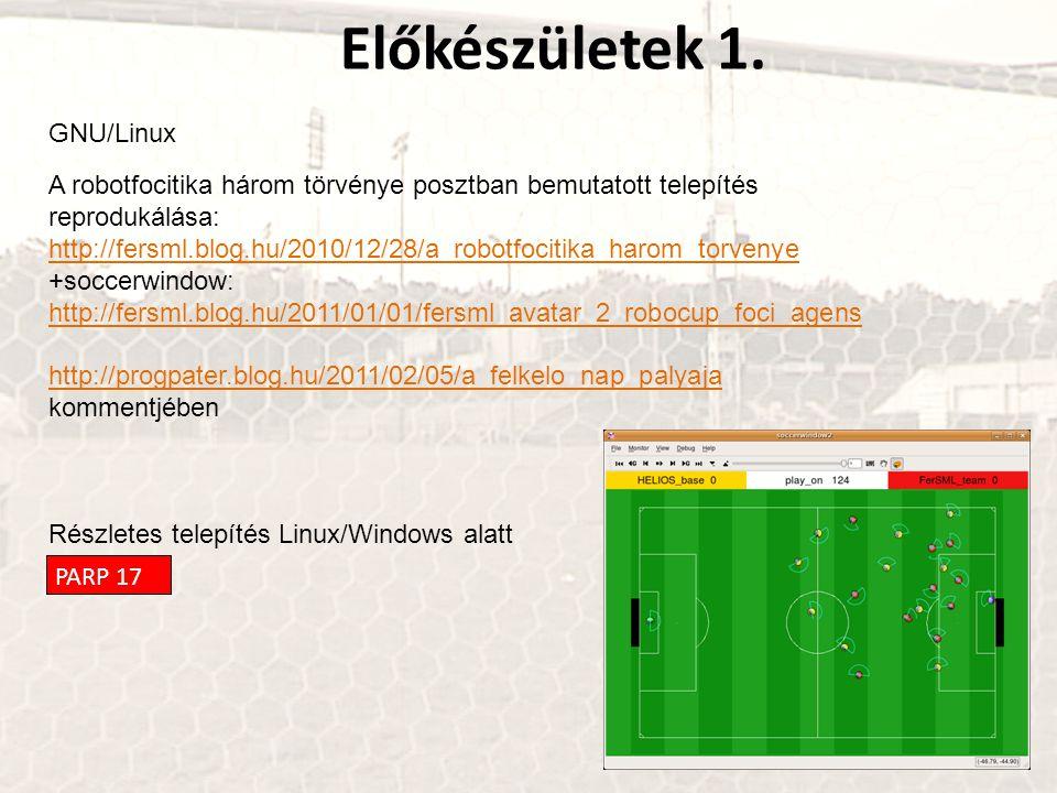 Előkészületek 1. GNU/Linux