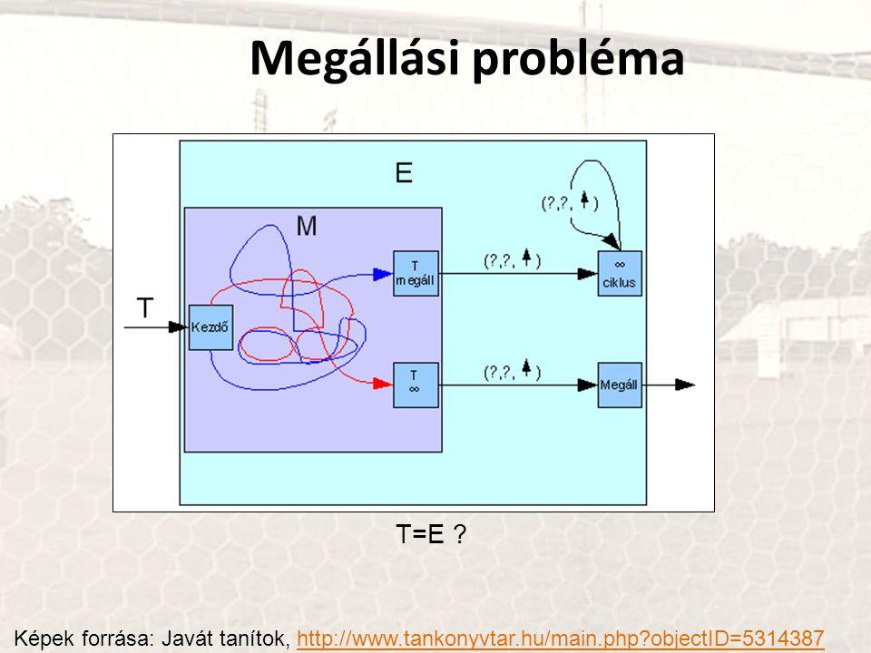 Megállási probléma T=E
