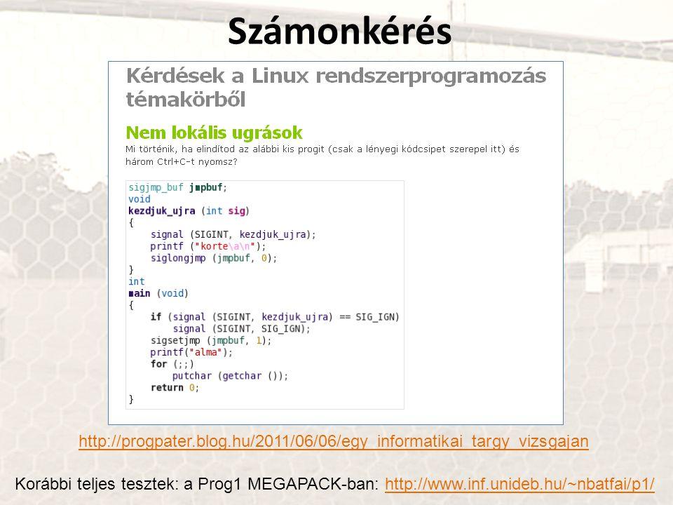 Számonkérés http://progpater.blog.hu/2011/06/06/egy_informatikai_targy_vizsgajan.
