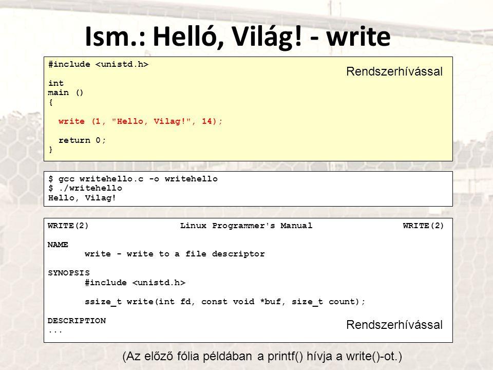 Ism.: Helló, Világ! - write